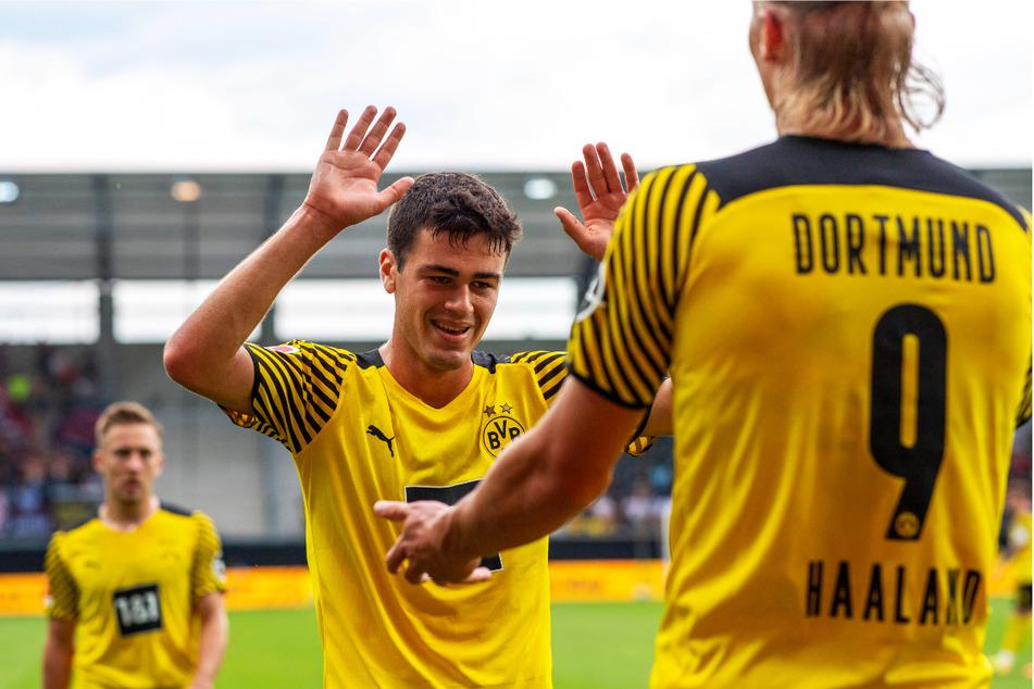 Giovanni Reyna (M.) schoss Borussia Dortmund gegen den FC Bologna mit 1:0 in Führung.