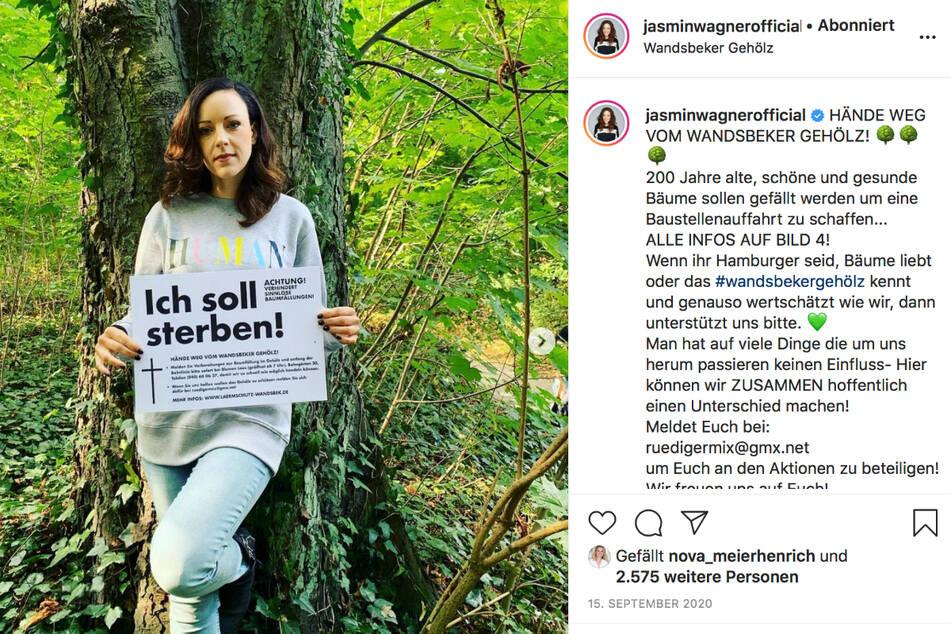 Jasmin Wagner (40) liegen die Bäume des Wandsbeker Gehölz am Herzen.