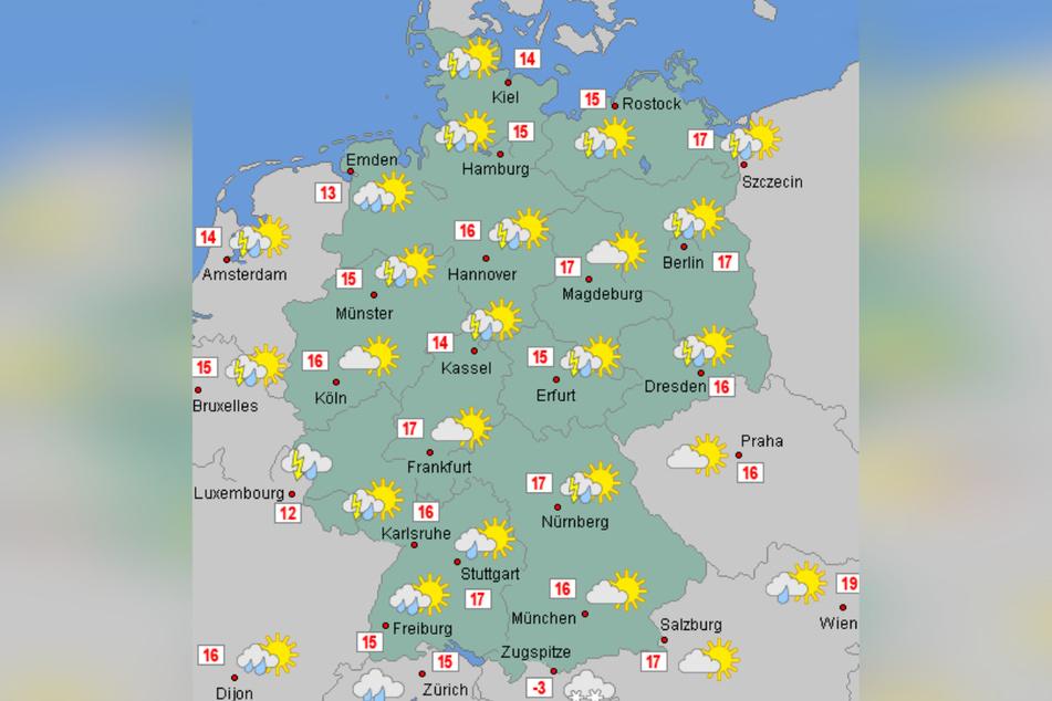Auch am Sonntag bleibt das Wetter in Deutschland wechselhaft.