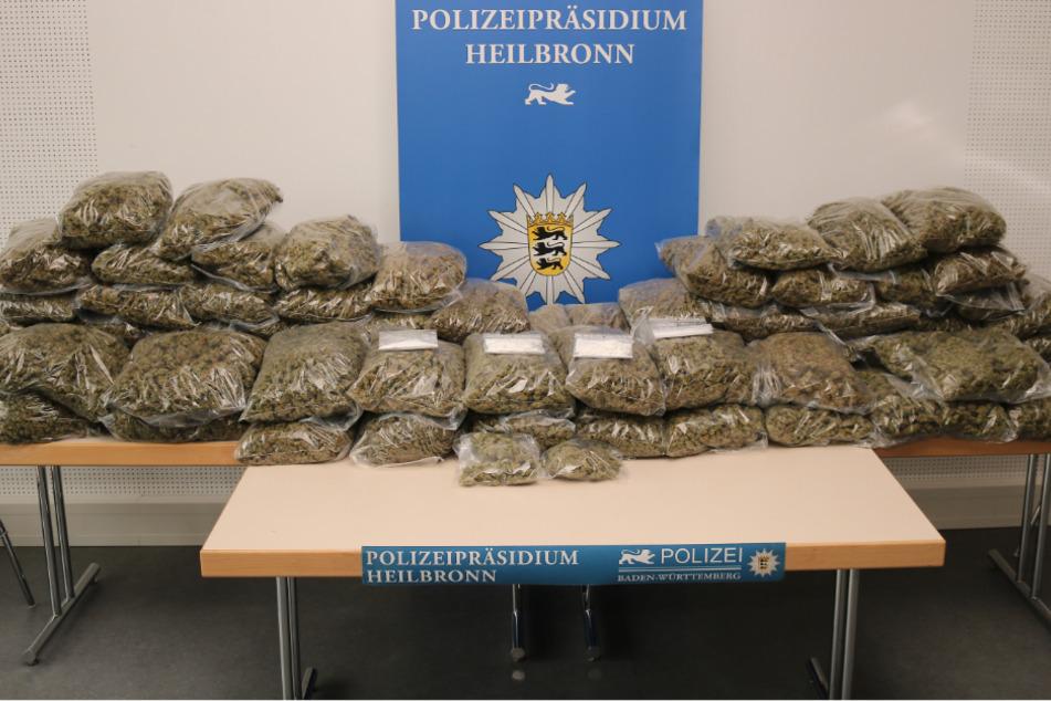 Über 70 Kilo Marihuana! Polizei hebt Drogenlager aus