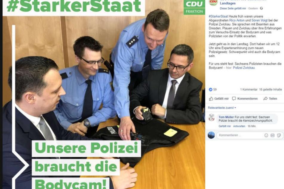 So informierte die CDU-Fraktion über den Besuch bei der Polizei.