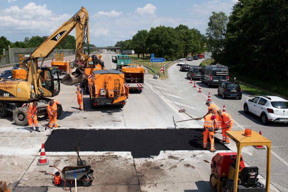 A1 bei Lübeck nach Hitze-Schäden nur noch teilweise gesperrt