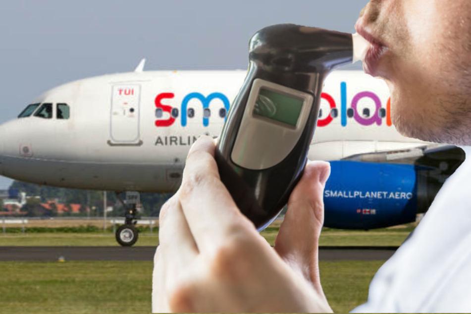Der Pilot musste sich einem Alkoholtest unterziehen. (Symbolbild)