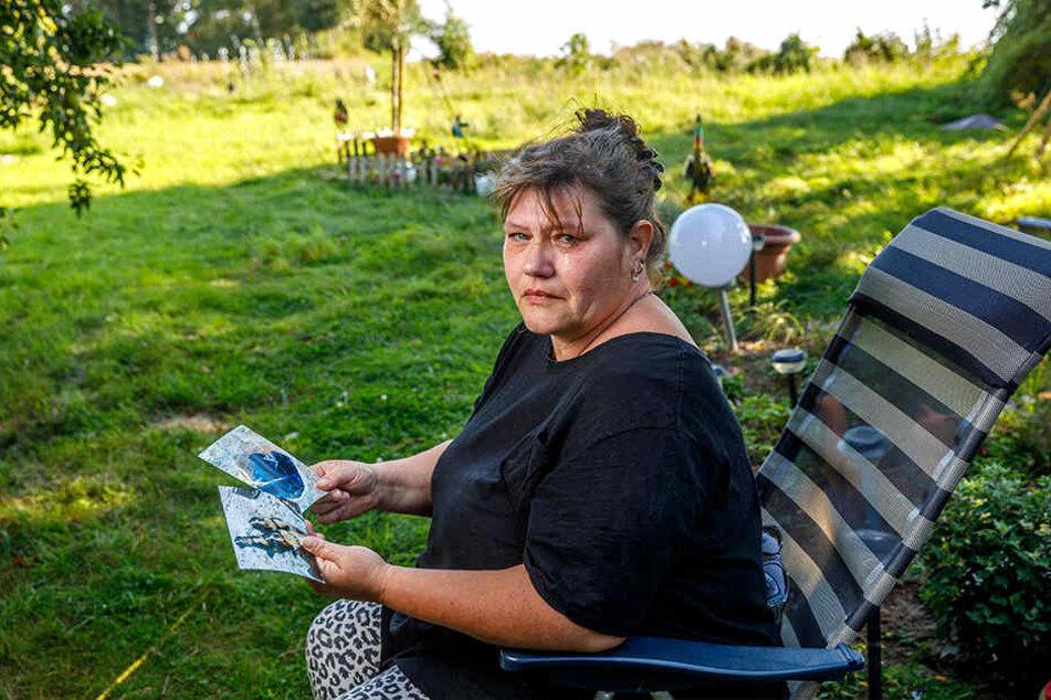 Odette Spranger (48) aus Naundorf bleiben nur noch Fotos ihrer beiden Berner  Sennenhunde.