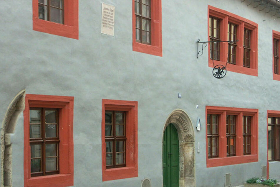 Geburtshaus des berühmten Dominikanermönchs Johannes Tetzel in der  Schmiedestraße 19 in Pirna.