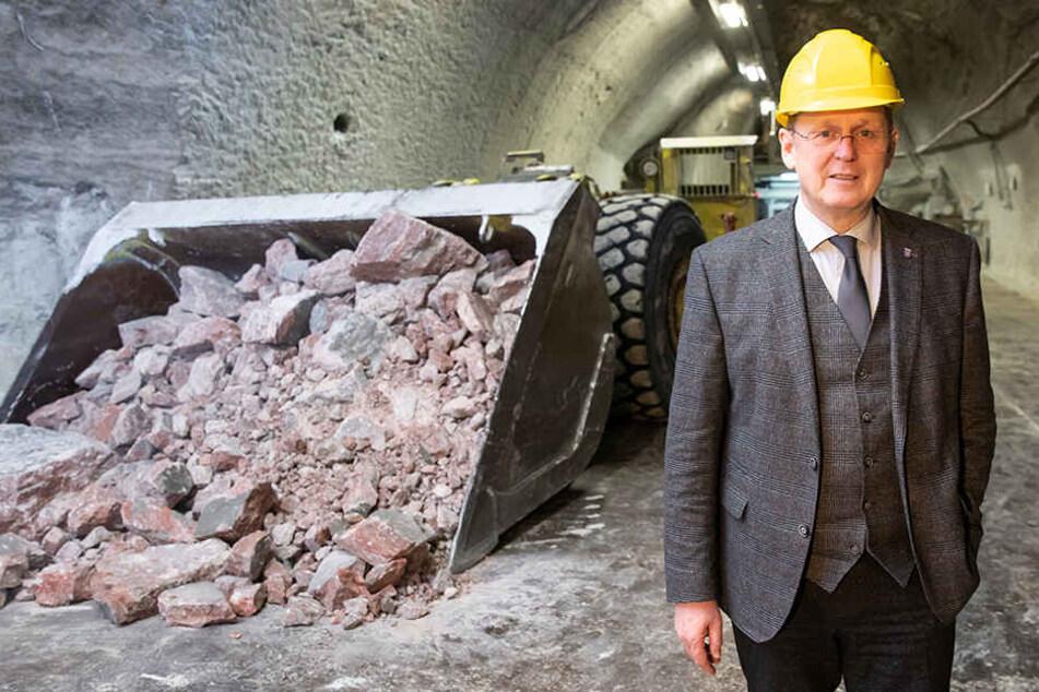 Ministerpräsident Bodo Ramelow hofft auf eine finanzielle Beteiligung des Bundes bei Sicherungsarbeiten in stillgelegten Kali-Gruben.