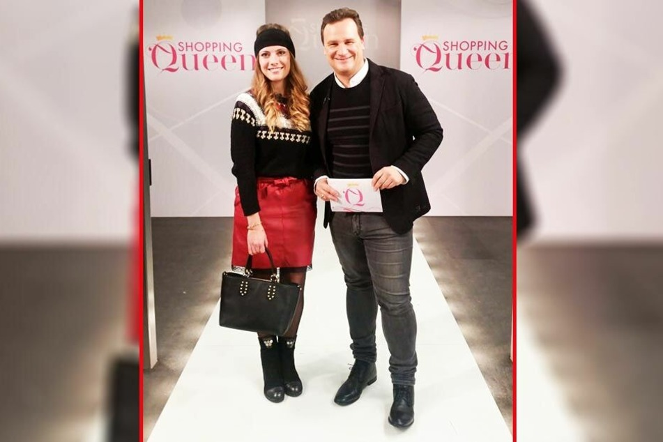 Jeanny (27) in ihrem Gewinner-Outfit mit Designer Guido Maria Kretschmer (53).