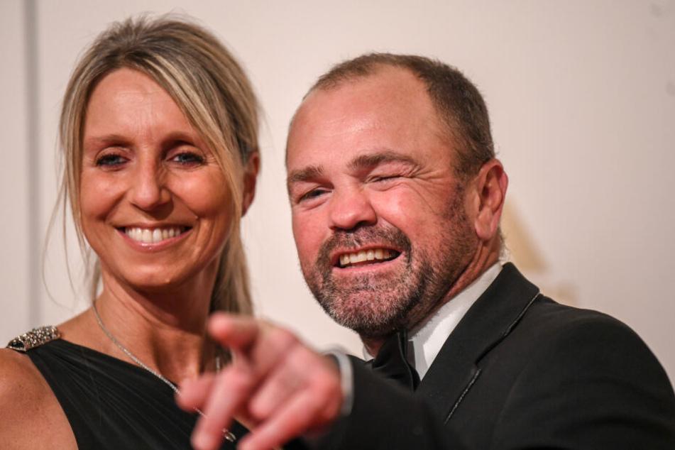 Sven Ottke mit Ehefrau Monic Frank.
