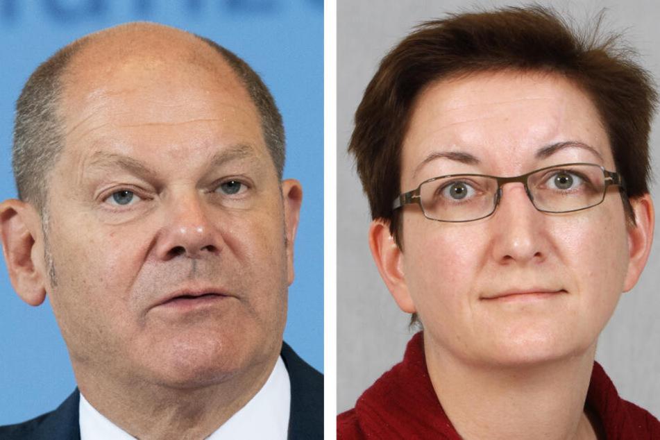 Der Bundesfinanzminister (l.) und die Brandenburger Landtagsabgeordnete (r.) stellen sich am Mittwoch in Berlin als Kandidaten für den Vorsitz der SPD vor.