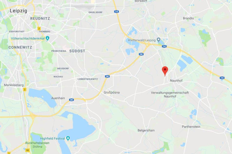 Der Transporter war auf der S43 zwischen Naunhof und Großpösna unterwegs.