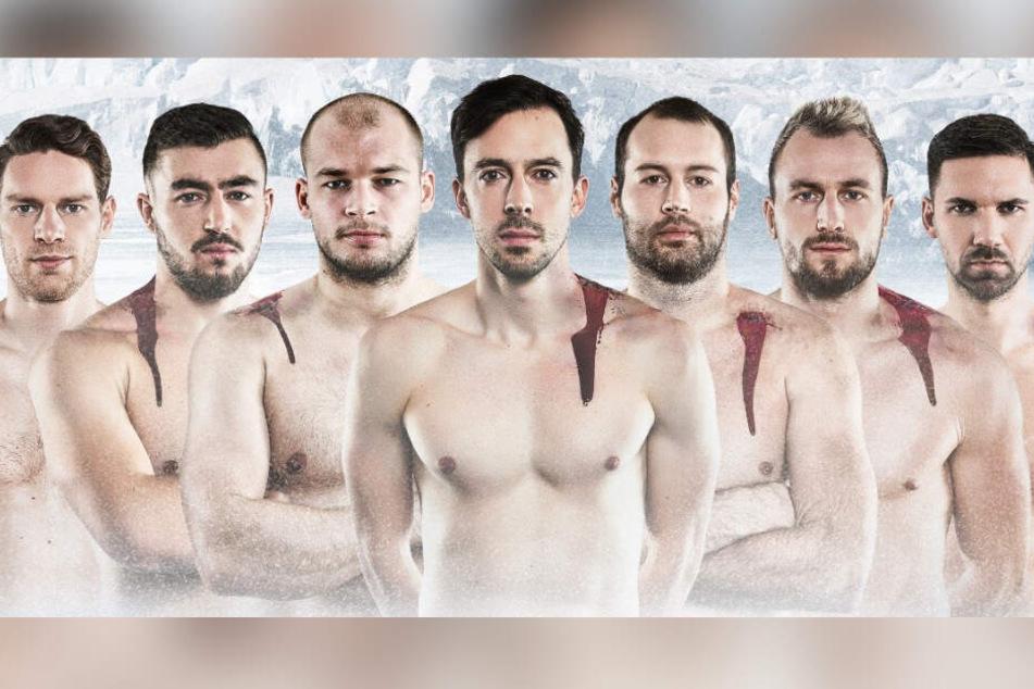 Darum zeigen sich diese deutschen Handballer blutig und nackt