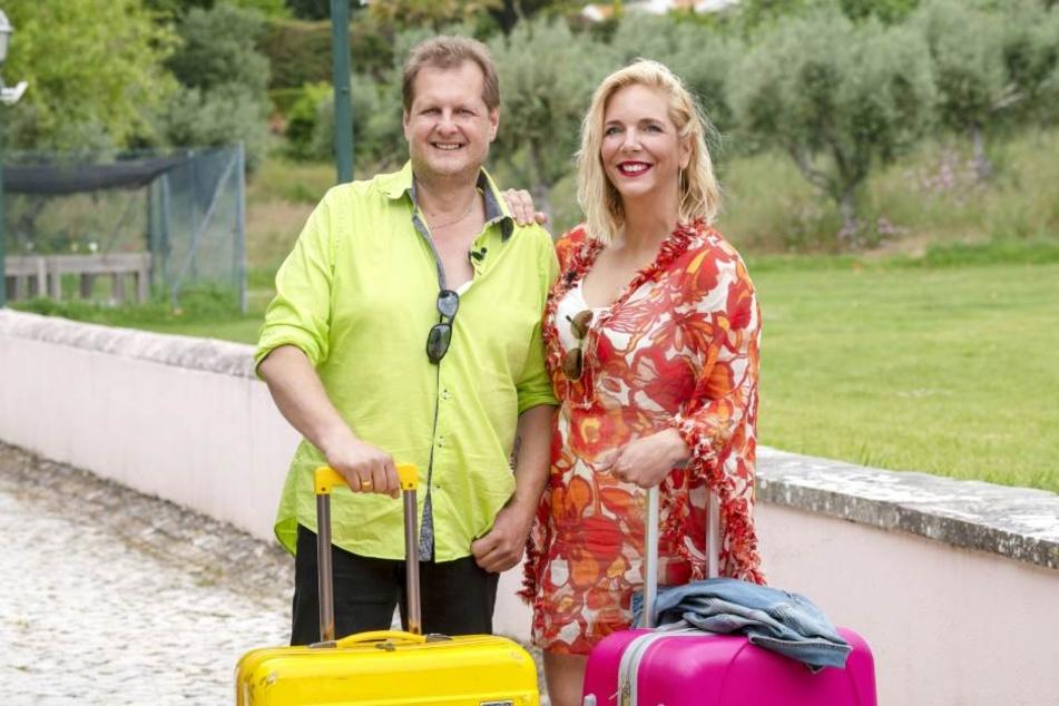 """Da war noch alles in Ordnung: Jens und Daniela """"Danni"""" Büchner kurz vor ihrem Einzug ins """"Sommerhaus der Stars"""" in Portugal."""