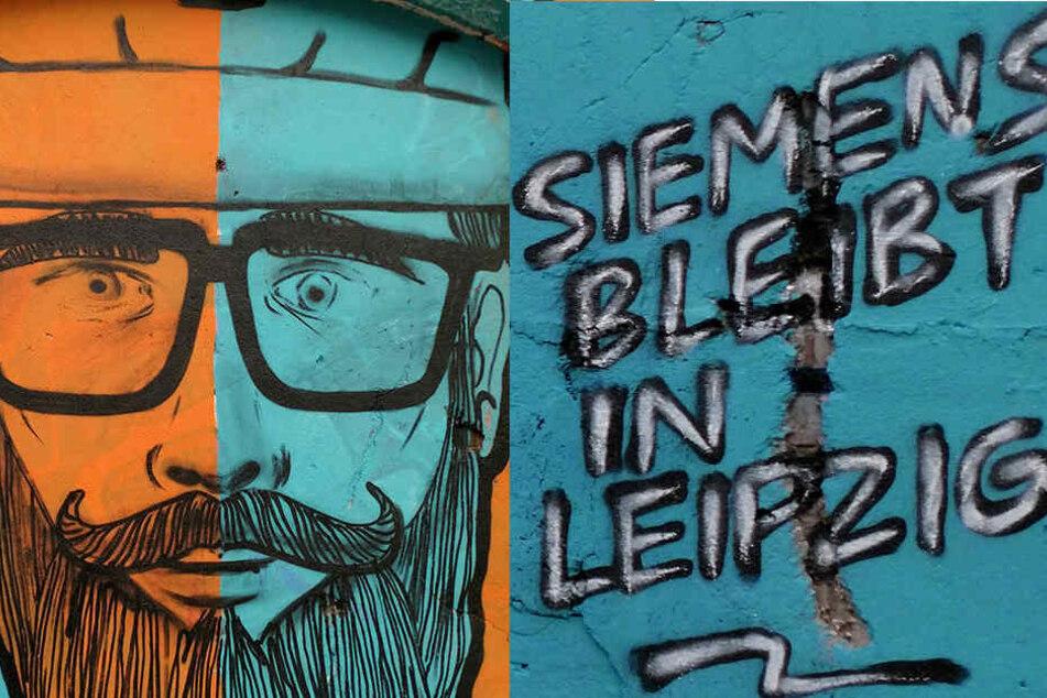 So kreativ protestieren Leipziger Siemens-Mitarbeiter gegen Standortschließung