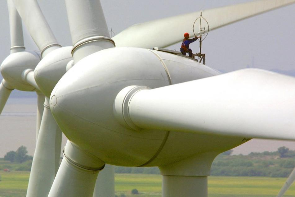 In den Nächten vom 4. bis 6. Juni beschädigten die bislang unbekannten Täter mehrere Windkrafträder. (Symbolbild)