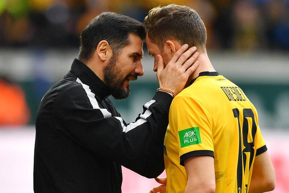 Cristian Fiel (l.) und Jannik Müller liegen auf einer Wellenlänge. Ob der Coach seinen Verteidiger zum neuen Kapitän macht, ist aber noch offen.