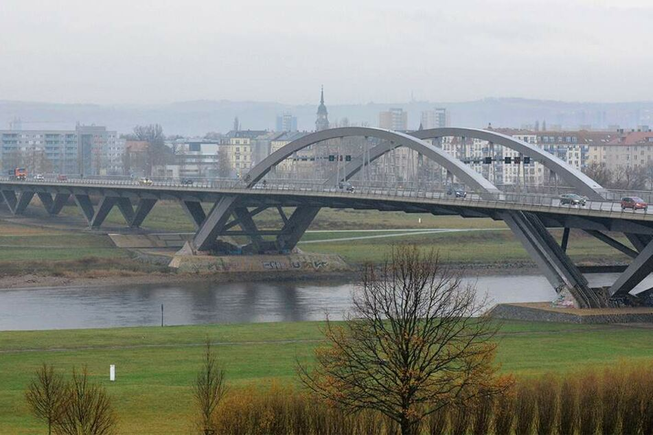 Rund um die Waldschlößchenbrücke stehen millionenschwere Umweltschutzmaßnahmen an.