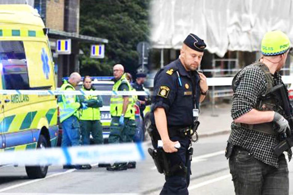 Nach Schüssen in der schwedischen Stadt Malmö wurde der Tatort abgeriegelt.