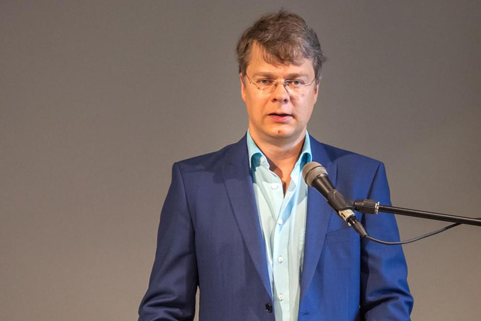 Oberbürgermeister Marcel Schmidt (Freie Wähler Union).