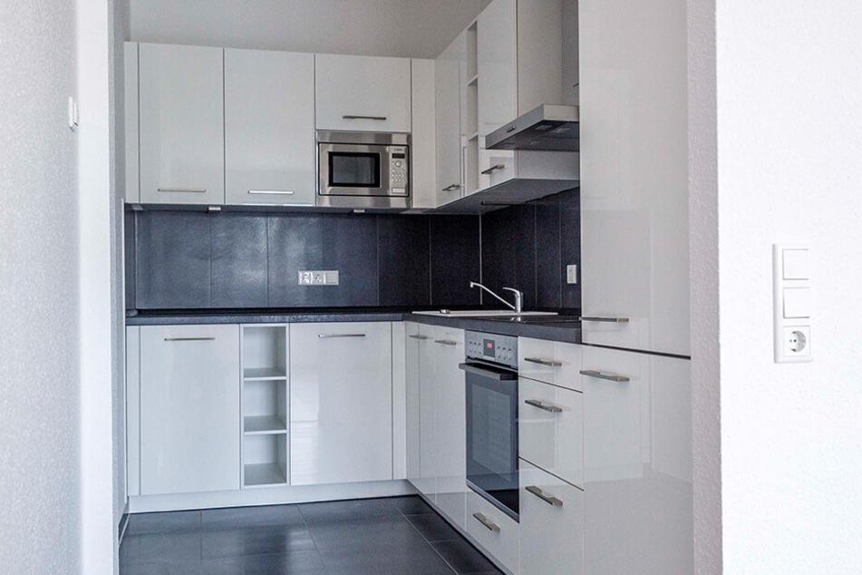 So schick sehen die Küchen in den neuen Wohneinheiten aus.