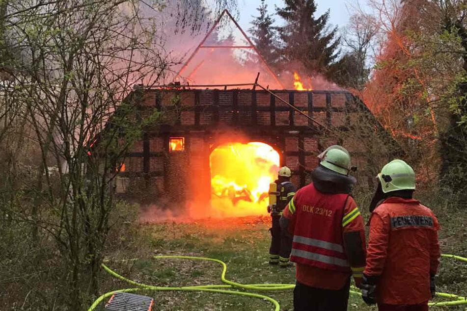 Bis auf die Grundmauern brannte das Fachwerkhaus nieder.