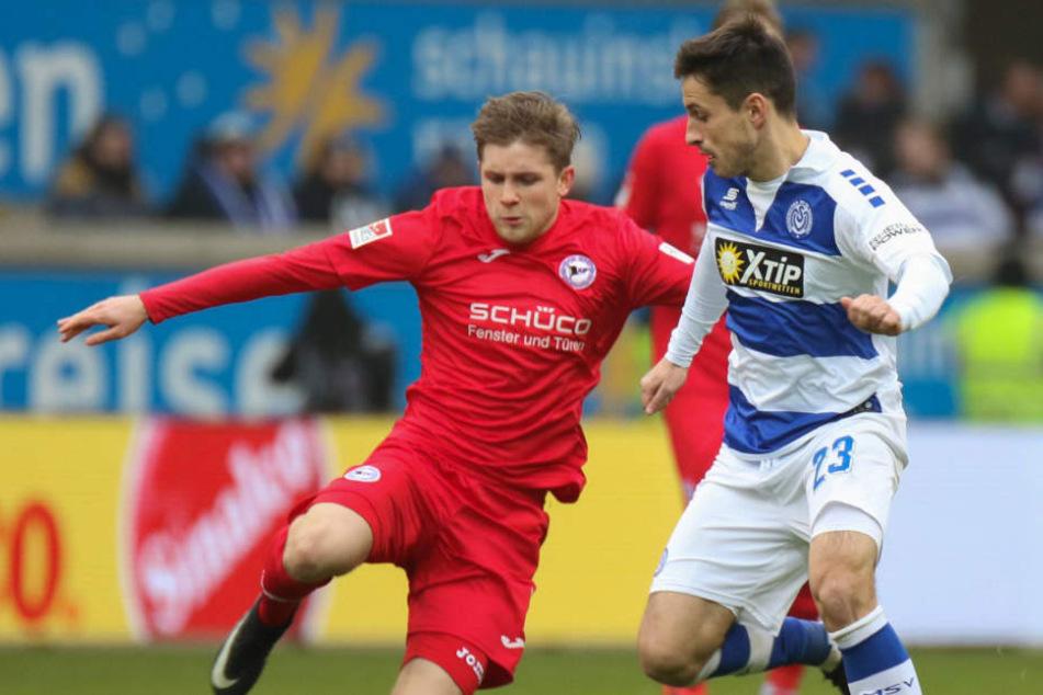 Patrick Weihrauch gelang in Duisburg sein zweites Saisontor.
