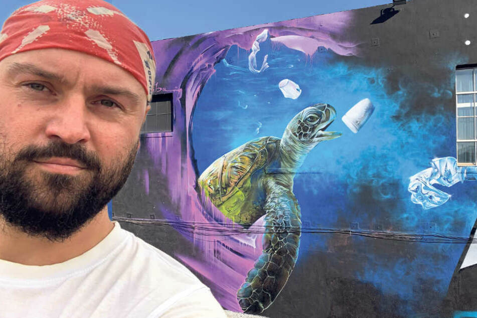 Graffiti-Star aus dem Vogtland besprüht Straße in Los Angeles
