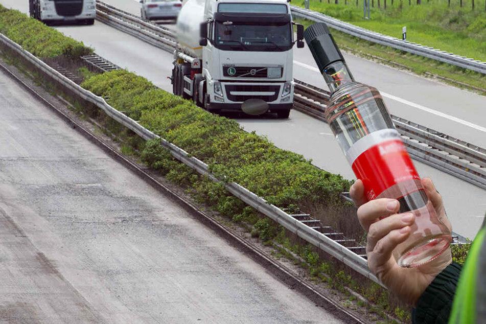 Der betrunkene Fahrer bedrohte sogar noch seinen Chef. Doch der feuerte ihn fristlos.