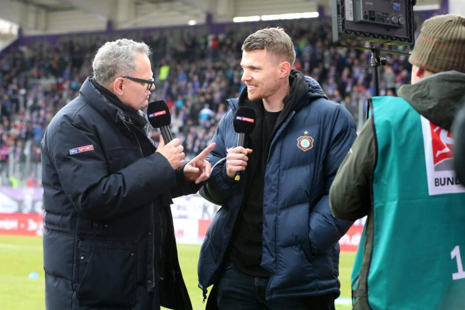 Mehr als ein interessanter Gesprächspartner für TV-Moderator Ulli Potofsky konnte Steve Breitkreuz auch gegen Ingolstadt nicht sein.