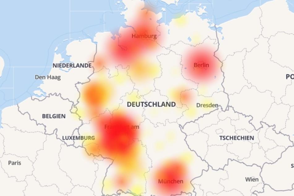 In ganz Deutschland gibt es am Mittwoch größere Probleme mit dem O2-Netz des Telefonanbieters Telefónica.