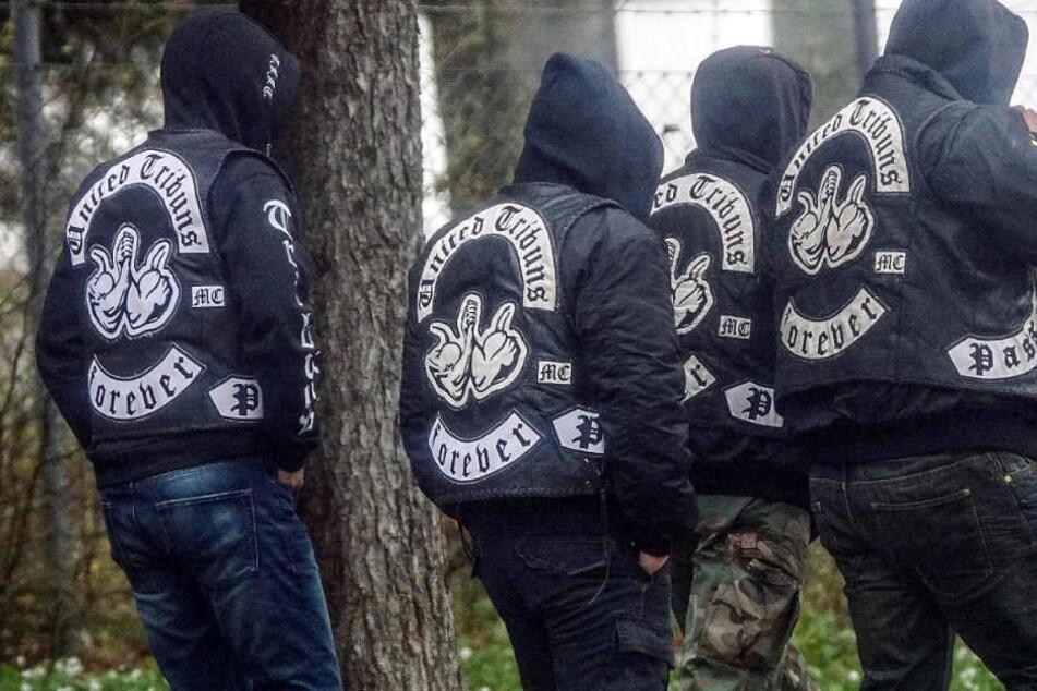"""Die rockerähnliche Gruppe """"United Tribunes"""" gab es bis 2016 auch in Leipzig. (Archivbild)"""
