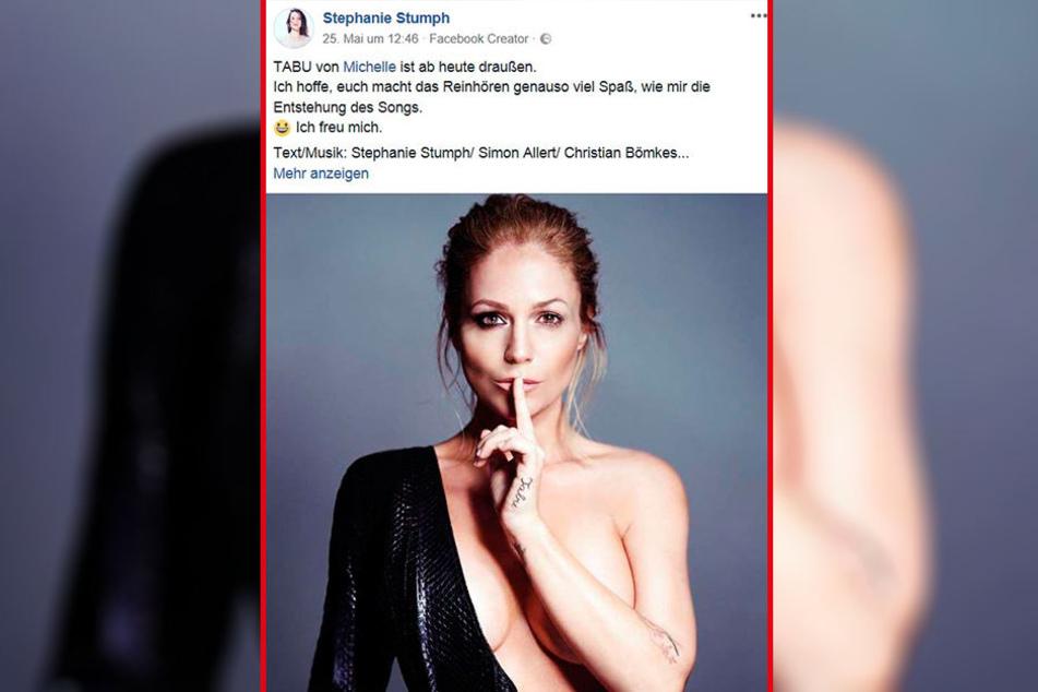 Auf Facebook macht Stephanie Stumph ordentlich Werbung für ihre neuesten Werke.