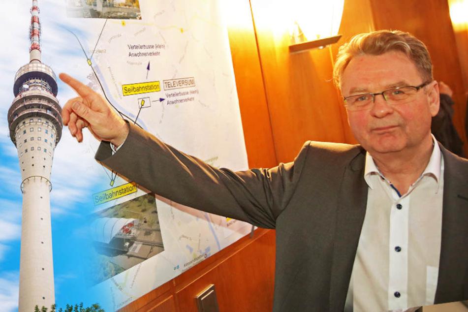 Für Fernsehturm! Ingenieur will Seilbahn quer durch Dresden bauen