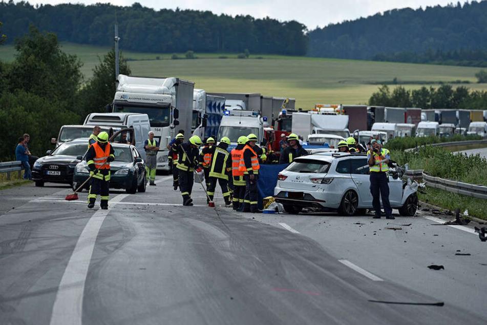 Der tragische Unfall ereignete sich im Juli 2017 auf der A4 zwischen Burkau und Uhyst.