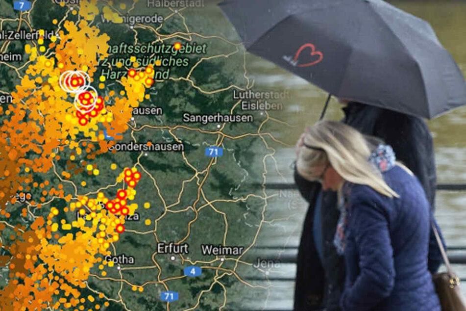 In Thüringen wird das Wetter ziemlich ungemütlich.