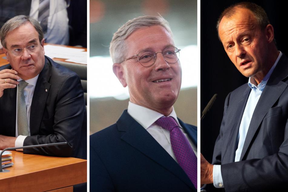 Von Links: Armin Laschet (59), Norbert Röttgen (55) und Friedrich Merz (64) kandidieren im Dezember für die Position des CDU-Parteivorsitzenden.