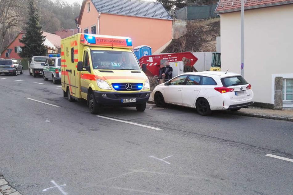 Ein Toyota-Fahrer hat in Dresden zwei Kinder angefahren.