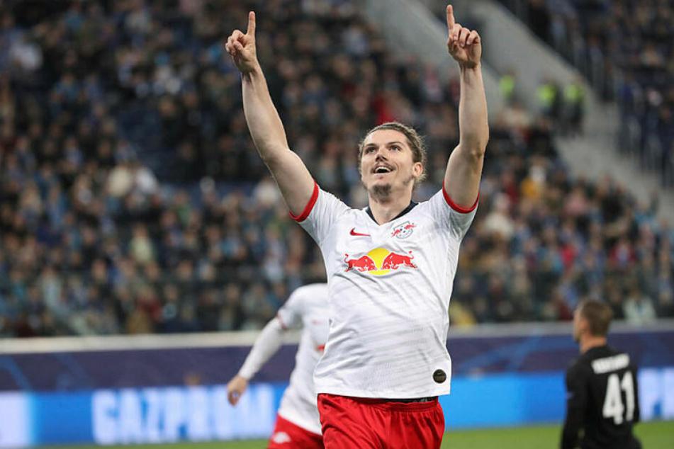 Nach seinem Hammer zum 2:1-Sieg im Hinspiel erzielte Marcel Sabitzer auch in Russland das zweite Tor für RB.