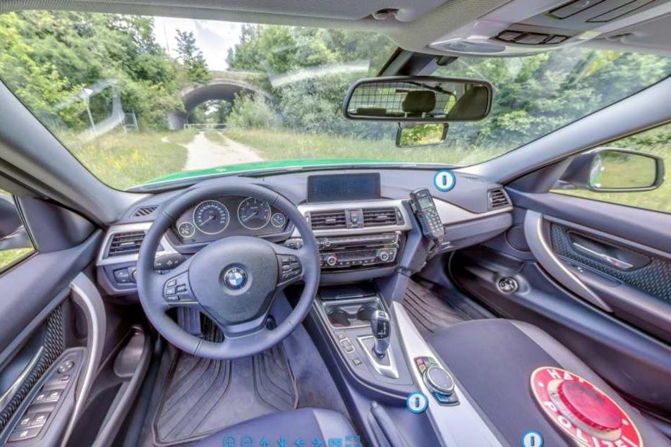 Polizei gibt 360-Grad Einblick in Streifenwagen