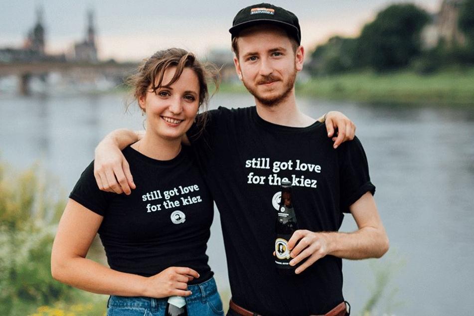 """Lydia Göbel und Christopher Leisinger sind Mitglieder von """"Quartiermeister"""". Sie unterstützten das Projekt."""