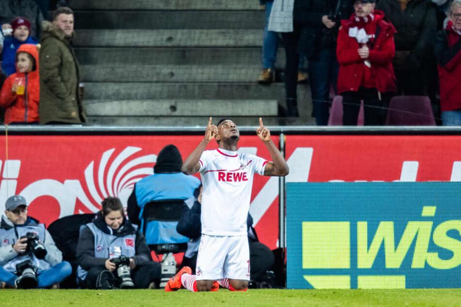 Jhon Cordoba hatte den 1. FC Köln in der ersten Halbzeit zunächst in Führung gebracht.