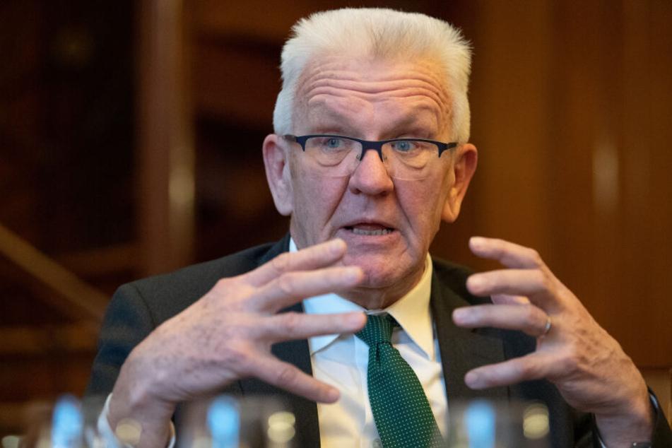 Ministerpräsident Winfried Kretschmann (Grüne) tritt bei der Landtagswahl im März 2021 für eine dritte Amtszeit an.