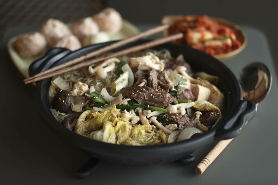 Hotpot is a traditional Chinese dish similar to fondue.