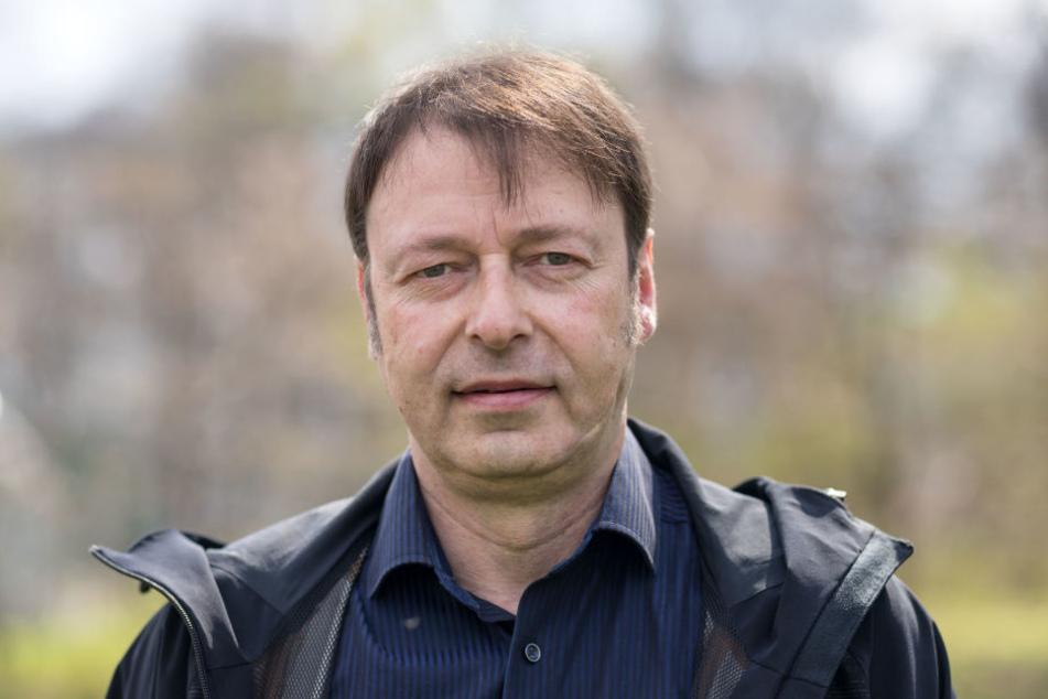 Stadtrat Thomas Lehmann (49) fordert einen Ausstieg von Stadt Chemnitz und Landkreis Erzgebirge aus dem Flugplatz.