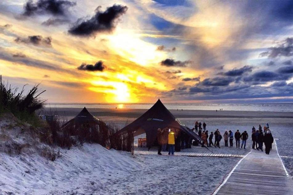 Die ostfriesische Insel Langeoog im Nationalpark Niedersächsisches Wattenmeer.