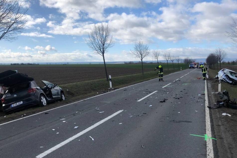 Auf der L66 ereignete sich am Montag ein schwerer Unfall.
