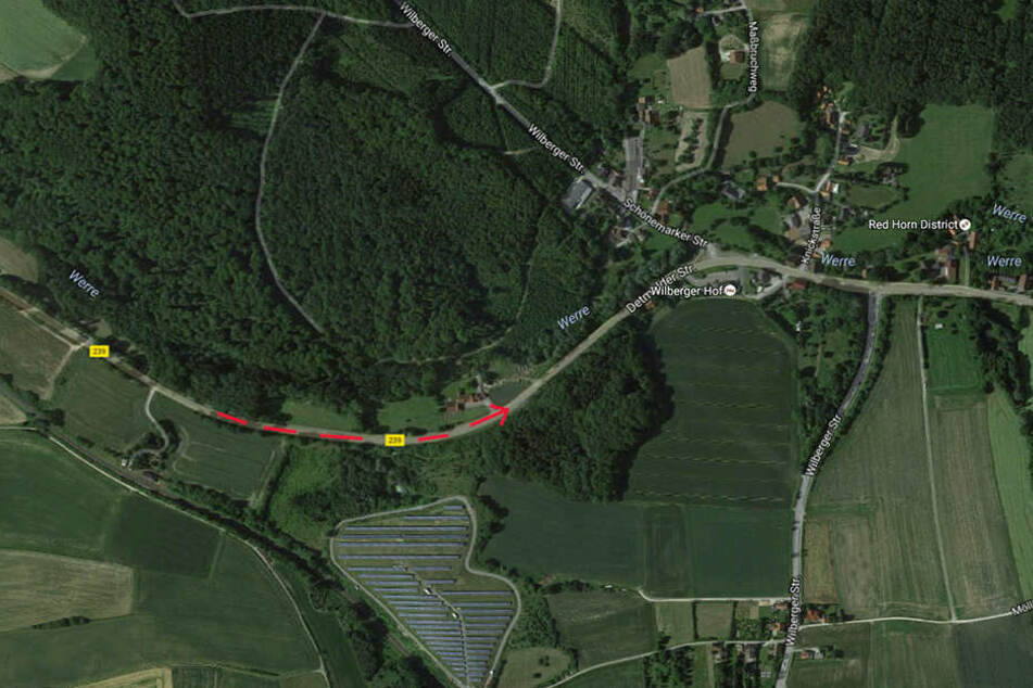 In dieser Kurve kam es zum Unfall.