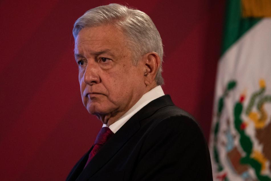 Andres Manuel Lopez Obrador nimmt an einer Pressekonferenz teil. Mexiko ist inzwischen das Land mit den viertmeisten registrierten Todesfällen im Zusammenhang mit der Lungenkrankheit Covid-19.