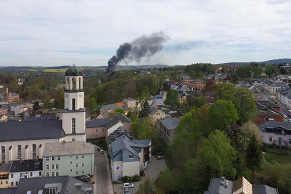 Rauchwolke über der Stadt: Was brennt hier?