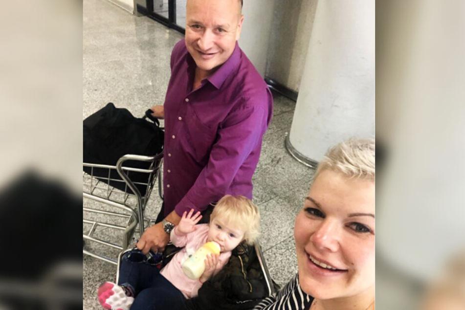 Mit ihrer kleinen Familie pendelt die Entertainerin zwischen Deutschland und Mallorca.