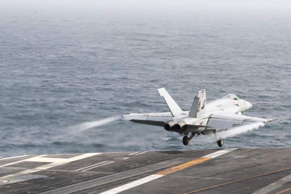 Waren die Kampfjets schon in der Luft? Oder wird das nur gestreut, um ein Signal zu geben?